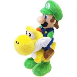 Sanei   Super Mario Bros. peluche Luigi & Yoshi 22 cm Toys & Games