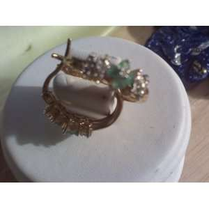 and Diamond Gemstoned Gold Hooped Earrings Retail $99