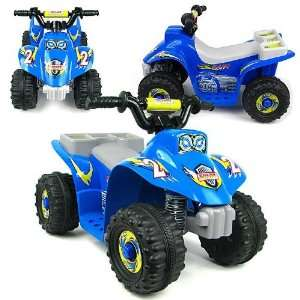 Four Wheeler Ride On Mini ATV Blue   Battery Operated