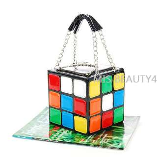 Designer New Women Cute Magic CUBE Bag Handbag Purse