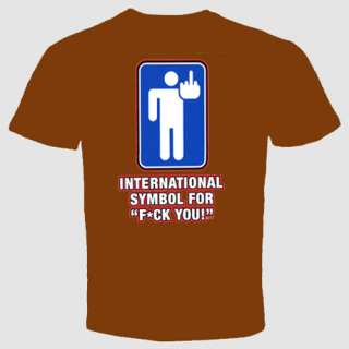 rude T shirt funny cool offensive international symbol