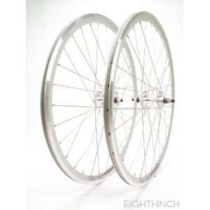 DEEP V TRACK FIXED GEAR WHEEL WHEELSET SILVER