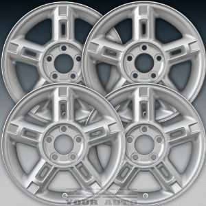Factory Replacement Sparkle Silver Full Face Painted Wheel Set of 4