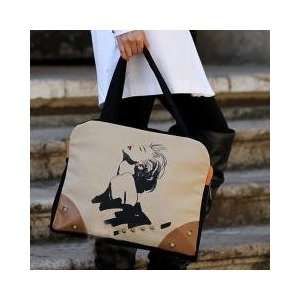 Style Fashion Fabric Tote Bag w/ Marilyn Monroe Graphic Print Design