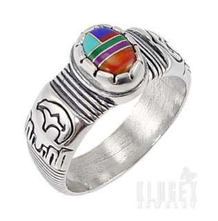 925 Southwestern Sterling Silver Ring Size 7