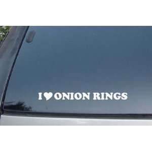 I Love Onion Rings Vinyl Decal Stickers