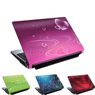 14 Laptop Skin Cover Notebook Sticker Pink Rose Heart