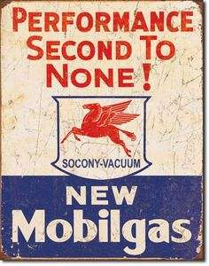 Nostalgic Reproduction Tin Metal Sign MOBIL Gas Rustic