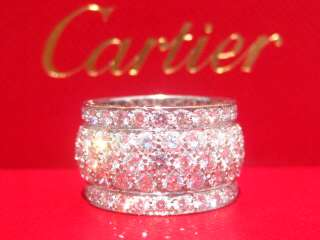 CARTIER 18K WHITE GOLD DIAMOND NIGERIA RING SIZE 49 US SIZE 5
