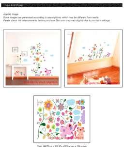Flower Removable Nursry Wall Decor Decal Sticker KR13