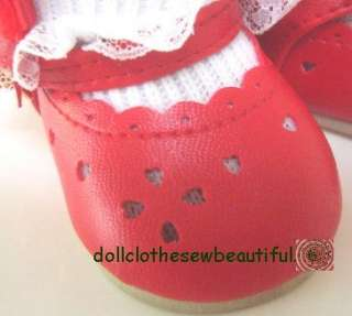 DOLL CLOTHES fits American Girl Red Dress Shoes QUALITY