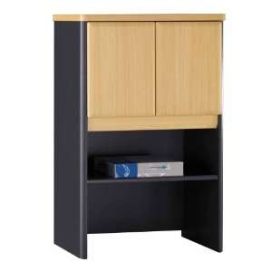 24 Storage Hutch   Series A Beech Collection   Bush