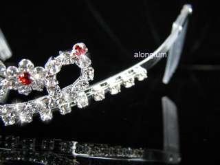 A108 8 Red Wedding Bridal Bridesmaid Swarovski Crystal Rhinestone Prom