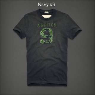 NWT Abercrombie & Fitch Mens Graphic Tee Shirt M L XXL NAVY
