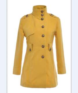 New Korea Womens High Quality Stand Collar Coat S/M/L