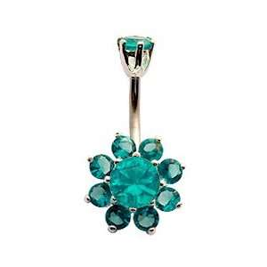 Crystal flower belly ring by GlitZ JewelZ ?   We use the best quality