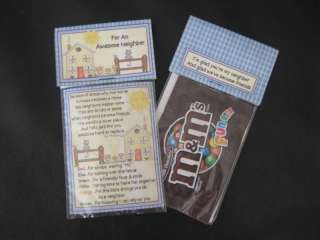 Neighbor or Best Friend M&Ms® Gift Bags Treat Favors