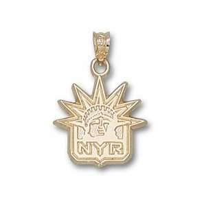 New York Rangers 14K Gold NYR Liberty Logo 5/8