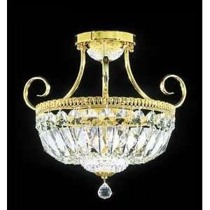 Moder Empire Collection Royal Gold, Silver Finish 3 Lights Semi Flush