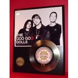GOO GOO DOLLS GOLD RECORD LIMITED EDITION DISPLAY