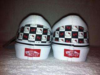 Kitty Vans Classic Slip On in Black/White Checkered size 9.5 in Womens
