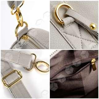 Grey Celebrity Stud Studded Bottom Duffel Tote bag HandBag