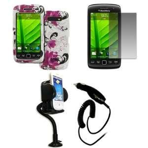 EMPIRE BlackBerry Torch 9850 9860 White with Purple