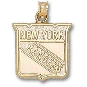 New York Rangers 10K Gold Shield Logo 5/8 Pendant