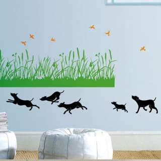 GRASS & DOG Home Mural Decal Deco Wall Sticker SS 58224