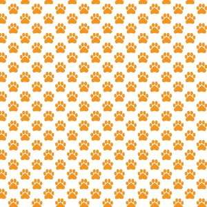 DOG PAWS PATTERN WHITE & ORANGE Vinyl Decal Sheets 12x12 x3 Great