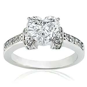 Shape Diamond Engagement Ring 14K SI2 G GIA Pave Cut  Very Good NEW