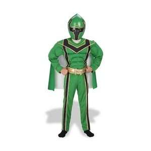 Power Ranger Green Muscle Costume Boys Size 4 6 Toys