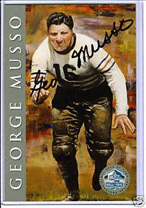 George Musso Chicago Bears Signed HOF Signature Series