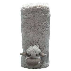 Mon Ami Louie Cow Plush Stroller Blanket Baby