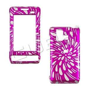 GLITTER PINK RAIN snap on hard case faceplate for LG Vx9700 Dare (many