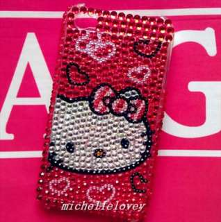 Hello Kitty Rhinestone Bling Case for iPhone 4 4g MF42