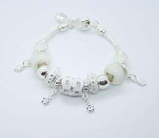 2012 New Gift Fashion Jewelry 925Silver Charm Bead Bracelet FP032