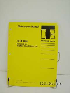 Thermo King CFIII M4A Maintenance Manual Wiring Diagram