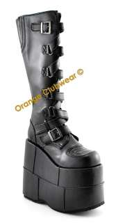DEMONIA STACK 308 Gothic Mens High Platform Boots