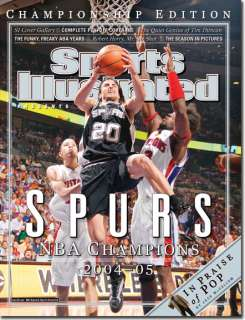 2004 / 2005 San Antonio Spurs NBA Champs Hard Cover NR/Mint