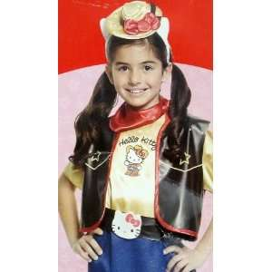 Girls Hello Kitty Cowgirl Costume Small 4 6 Office