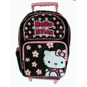 Sanrio Hello Kitty Luggage   Black Hello Kitty Rolling Backpack