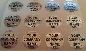 100 CUSTOM PRINTED ROUND HOLOGRAM STICKERS LABELS SEALS