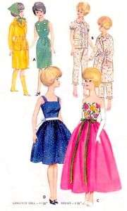 Vintage 11.5 Barbie & Midge Doll Clothes Pattern 3385
