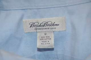 BROOKS BROTHERS PALE BLUE NO IRON LONG SLEEVE BUTTON DOWN DRESS SHIRT