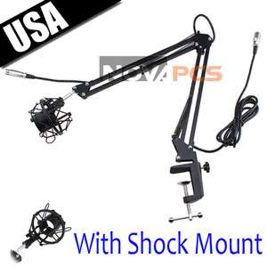 Broadcast Studio Microphone Suspension Boom Scissor Arm stand with