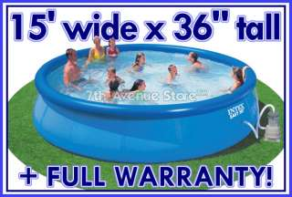 15x 36 Intex Easy Set Above Ground Swimming Pool+Pump 078257564118