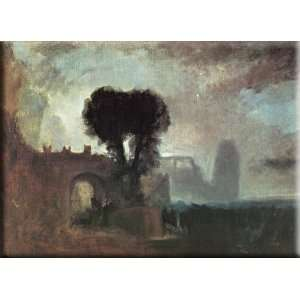 by the Sea 16x12 Streched Canvas Art by Turner, Joseph Mallord William
