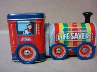 Candy 5 Flavors Tin Train Life Saver Container Nabisco Box