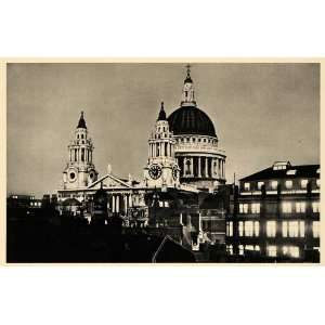 1943 London St. Pauls Cathedral Winston Churchill